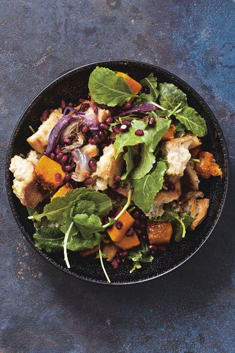 roasted squash panzanella   best kale recipes