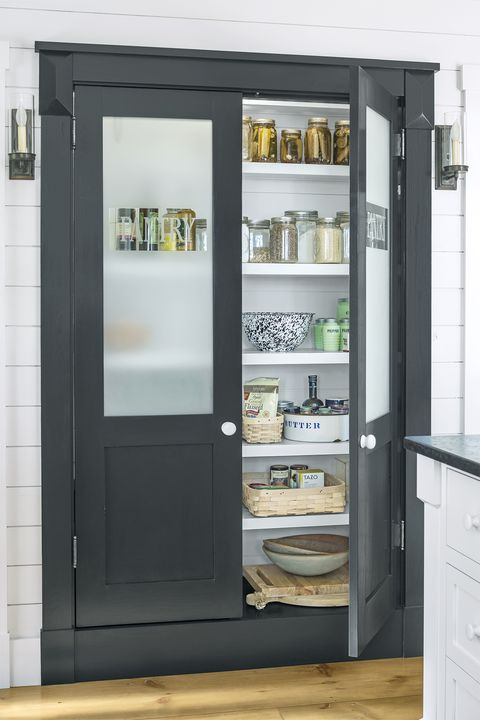 pantry organization ideas - frosted glass