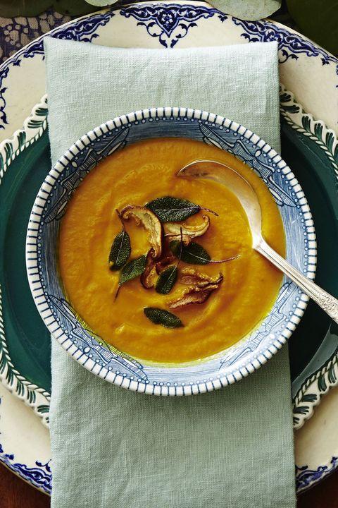 savory pumpkin and sage soup