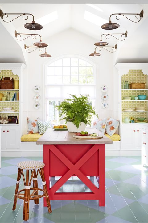 painted kitchen floors