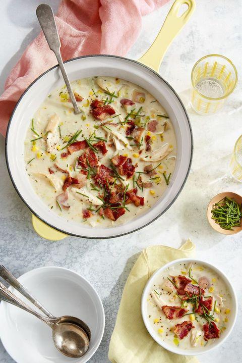 rotisserie chicken recipes   rotisserie chicken and potato chowder