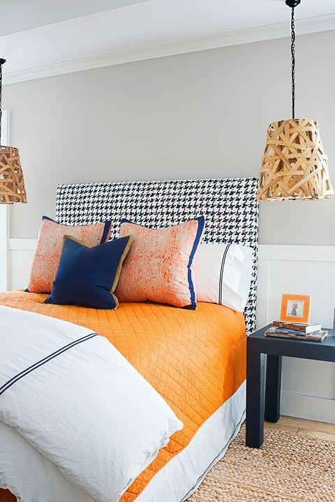 bedroom ideas, two tone walls