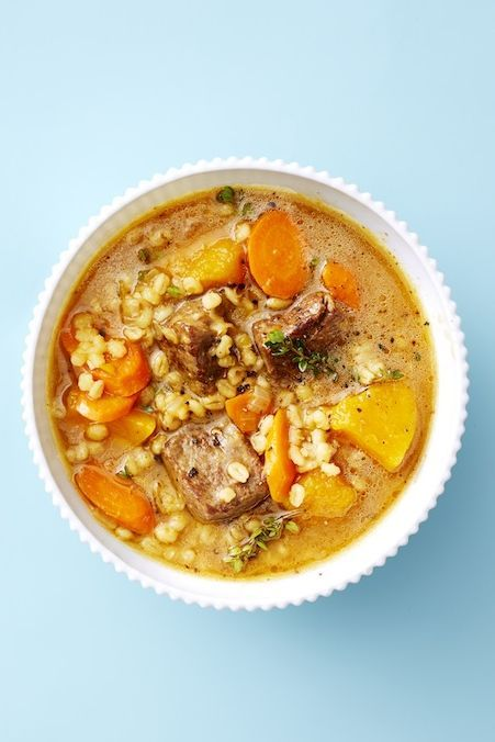 fall soups   beef and barley soup