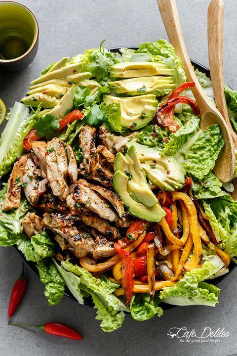 Grilled Chili Lime Chicken Fajita Salad - Grilled Chicken Recipes