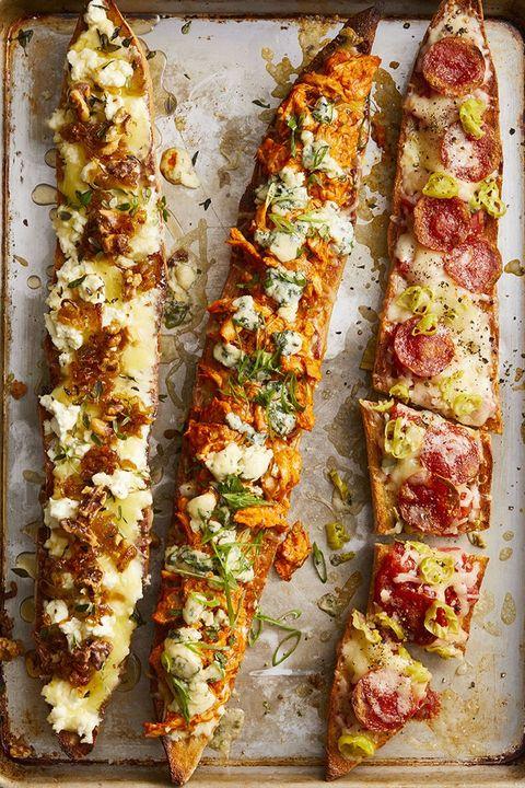 rotisserie chicken recipes   baguette pizzas
