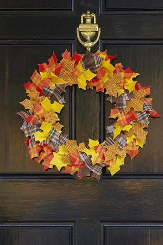 Fall Wreaths - Leaf It There Wreath