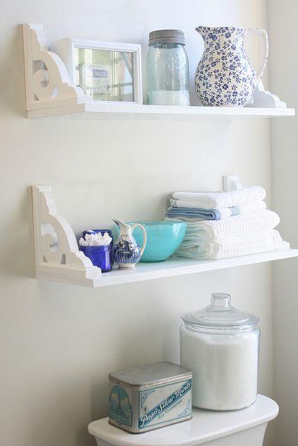 Small Bathroom Storage Ideas - shelves