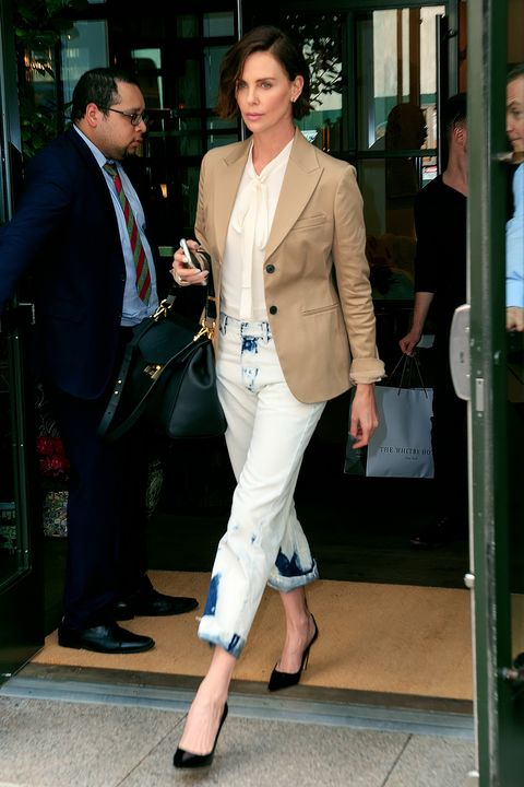 charlize theron, 80s outfits