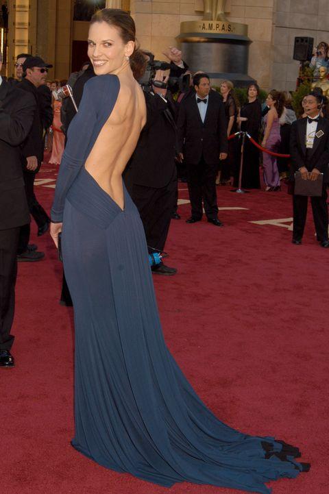Scandalous Oscars Dresses - Hilary Swank
