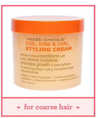 mixed chicks coil kink style cream