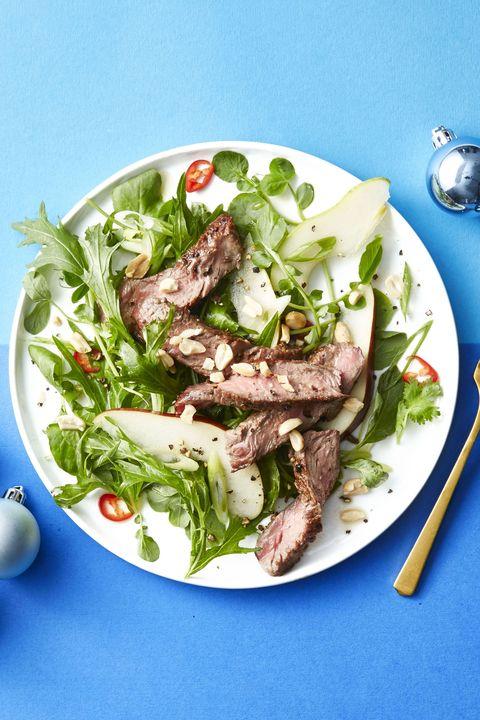 thai steak and pear salad