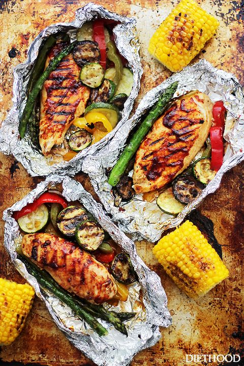 grilled bbq and veggies   grilled chicken recipes