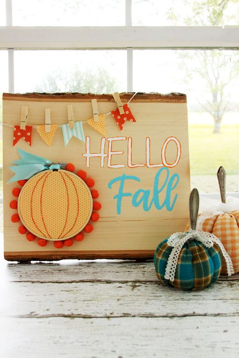 Fall Crafts - Hello Fall sign