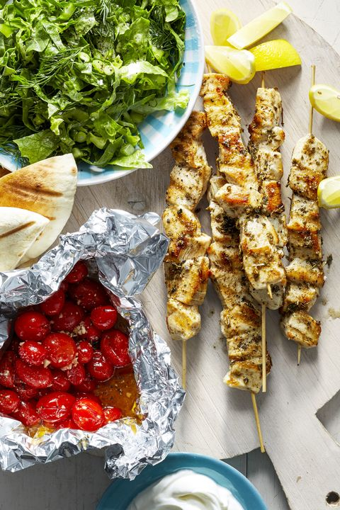 Chicken Breast Recipes - Chicken Souvlaki Skewers