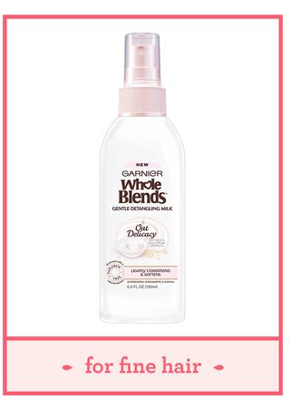 garnier whole blends gentle detangling hair milk oat delicacy