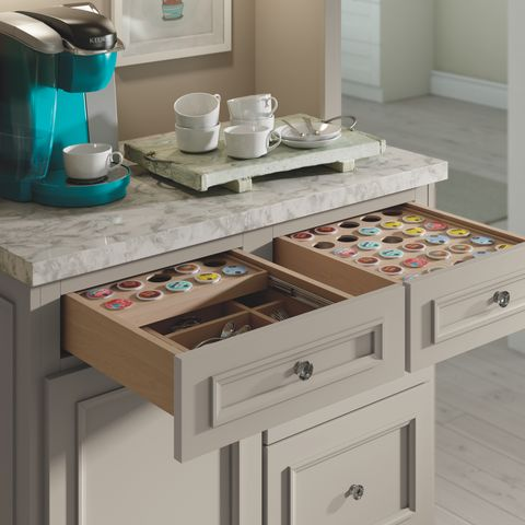 K-Cup drawer insert by Decora Cabinetry