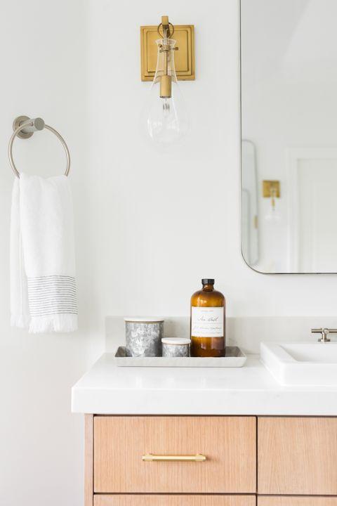 small bathroom storage ideas - bathroom tray