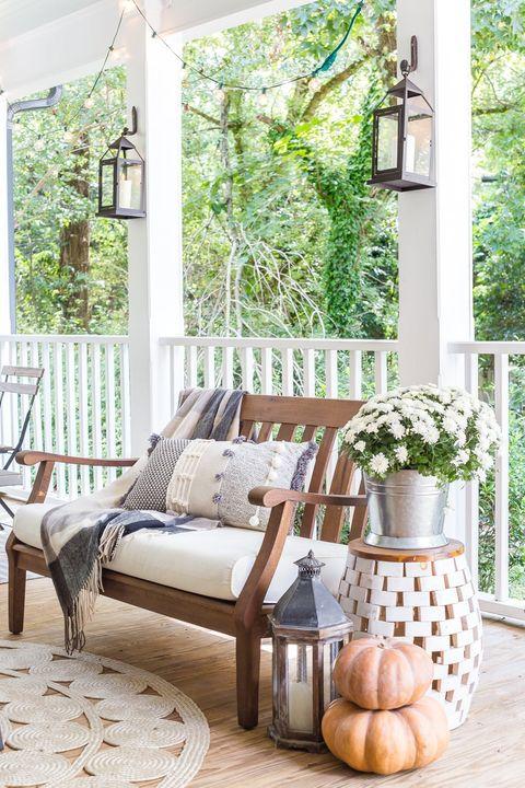 fall porch decor blesser house