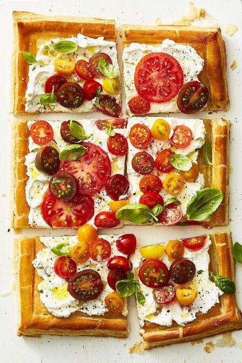 herbed ricotta and fresh tomato tart   summer dinner recipes