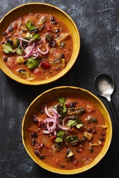fiery black bean soup