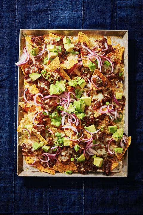 kids dinner ideas  bbq beef nachos
