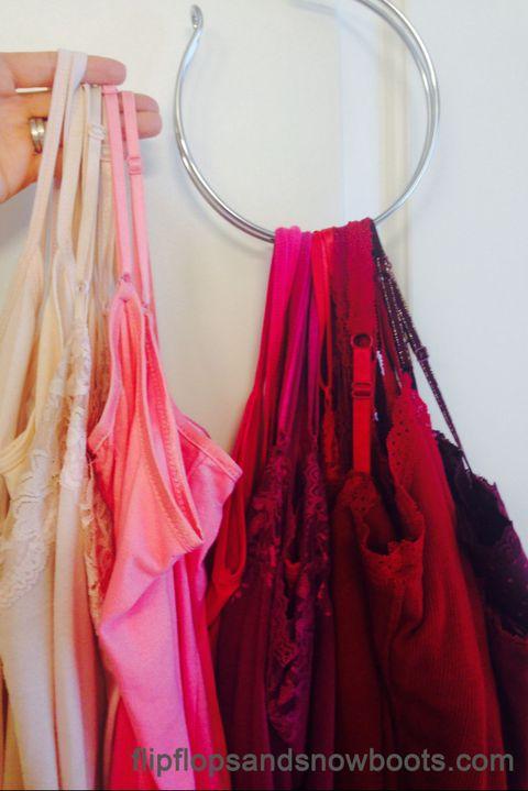 closet organization ideas - camis