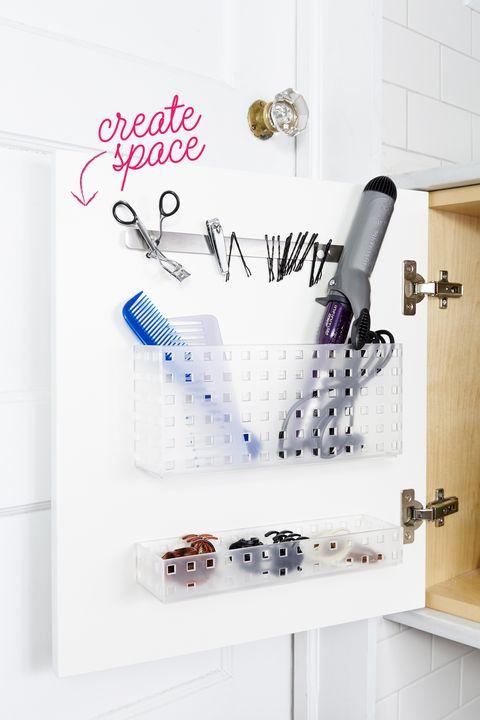 small bathroom storage ideas - Cabinet Door Organizer