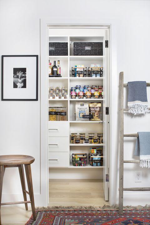 pantry organization ideas - tiered shelves