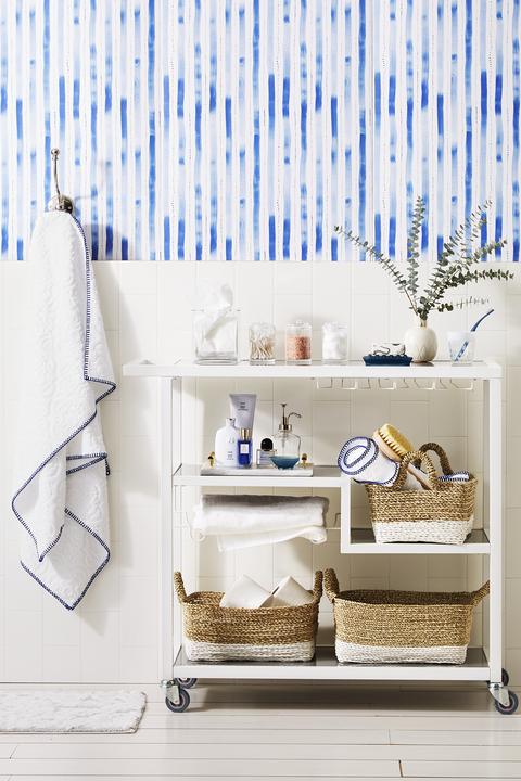 small bathroom storage ideas - bar cart