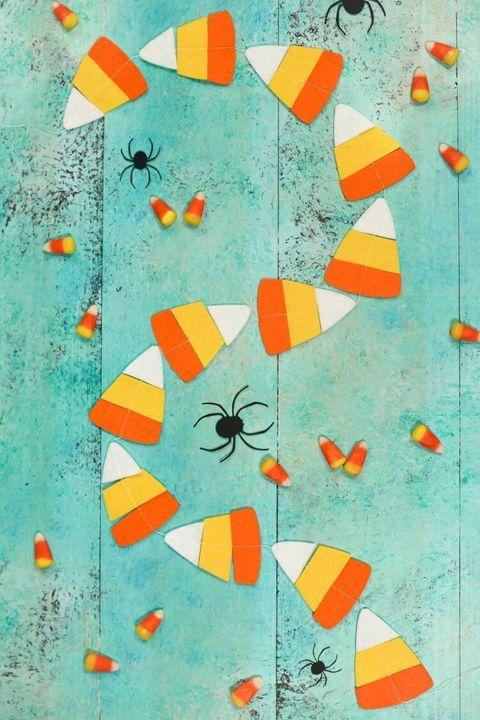 Fall Crafts - Felt Candy Corn Garland