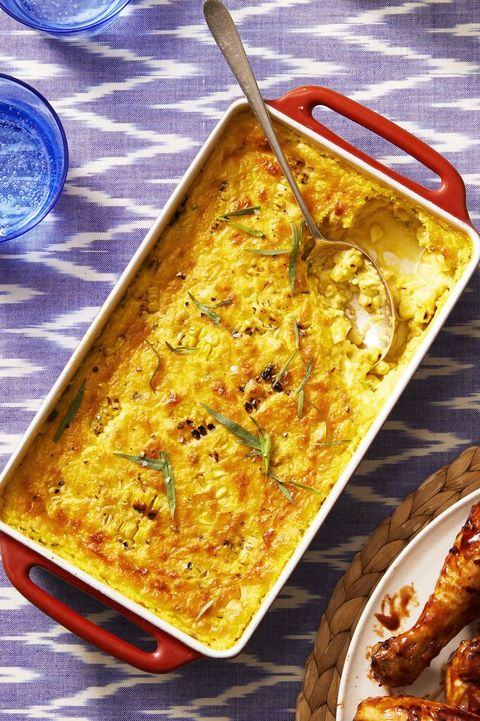 bbq side dishes  roasted corn pudding