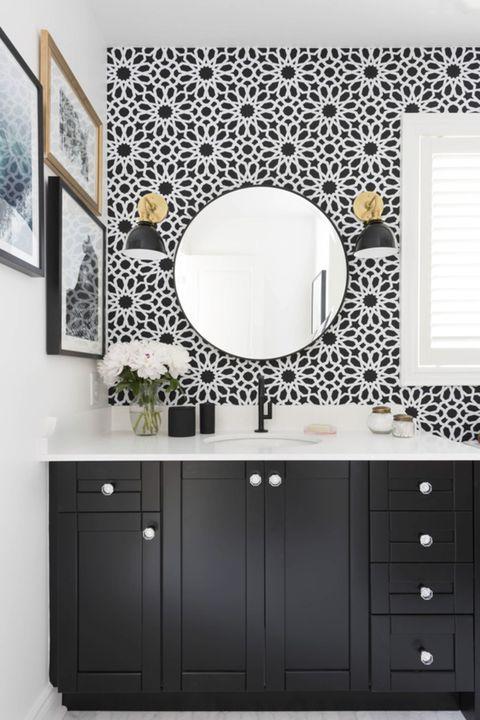 decluttered bathroom