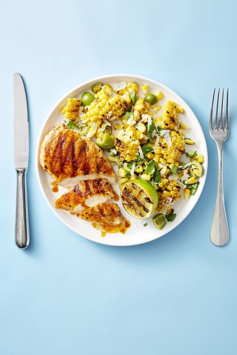 Grilled Chicken with Smoky Corn Salad - Grilled Chicken Recipes
