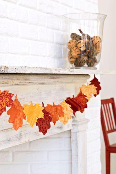 Fall Crafts Leaf Garland