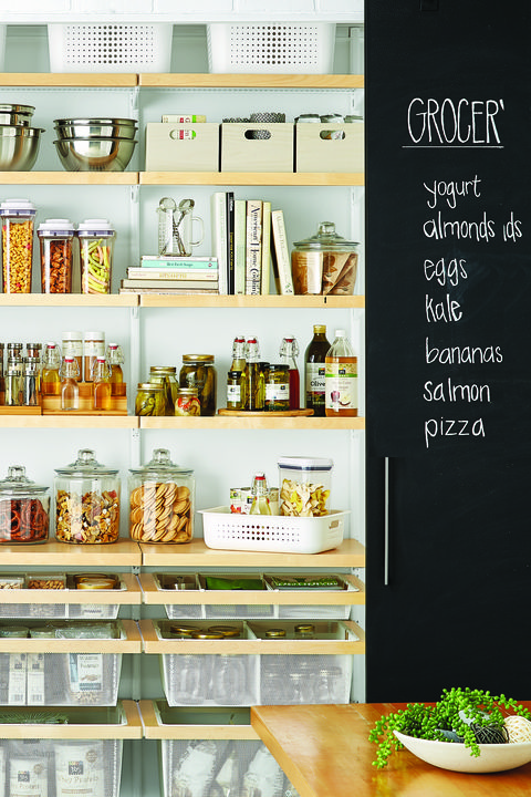 pantry organization ideas - chalkboard doors