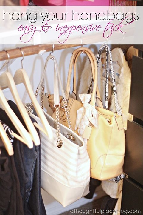 Closet Organizer Ideas - Purses