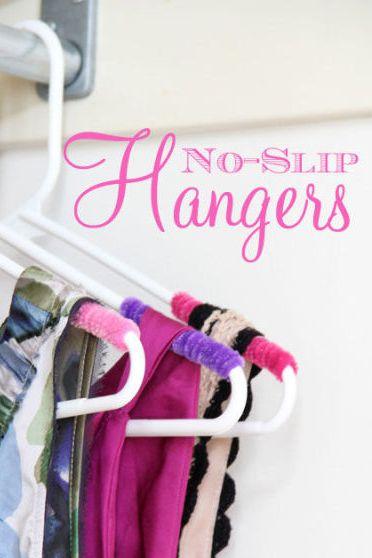 closet organizer ideas - hangers