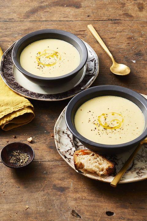 fall dinners   potato leek soup