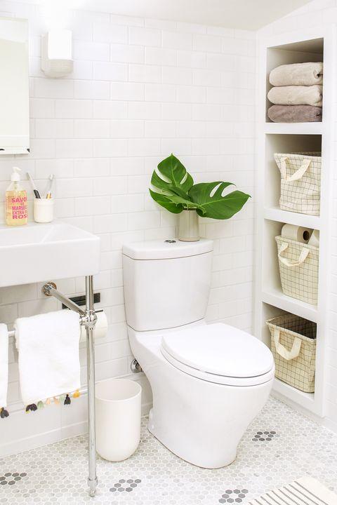 Open Shelves - Bathroom Shelf Ideas
