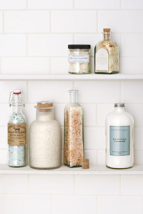 bath salts in clear bottles