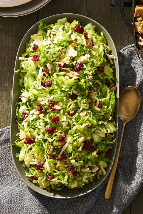 healthy side dishes   lemony brussels sprout salad