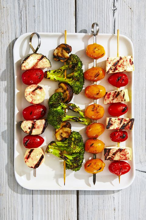 rainbow veggie kabobs   4th of july appetizers