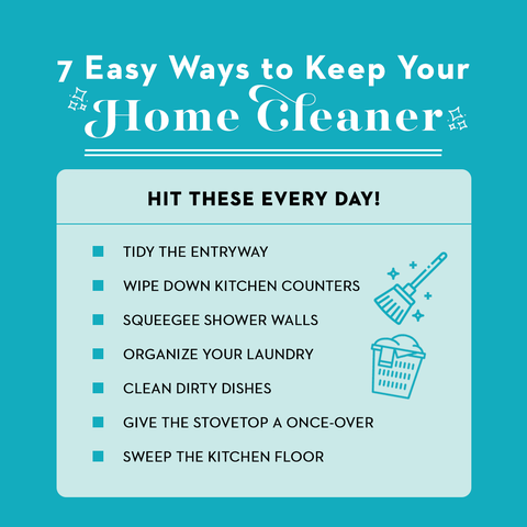what to clean everyday