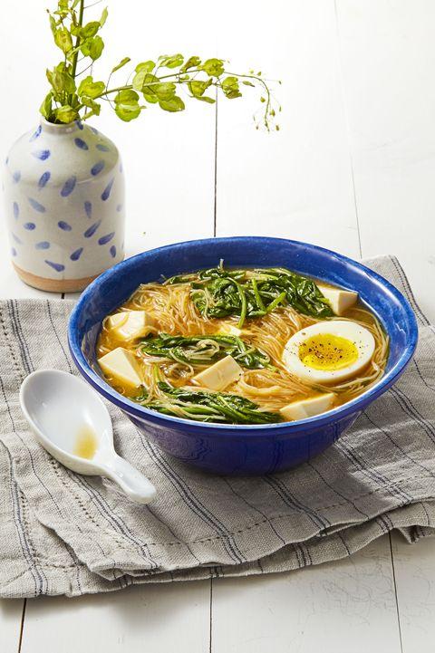 low calorie mealsmiso spinach noodles
