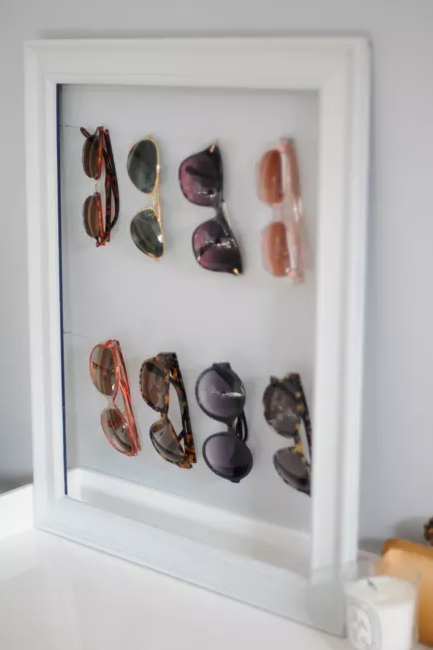closet organizer ideas - Sunglasses storage diy
