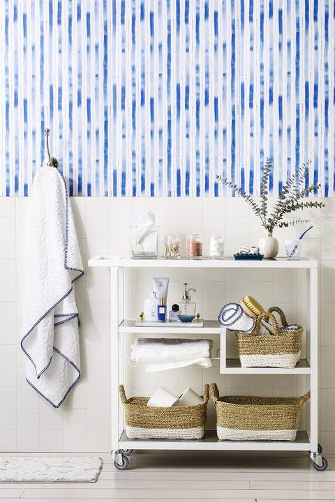 Bar Cart - Bathroom Shelf Ideas