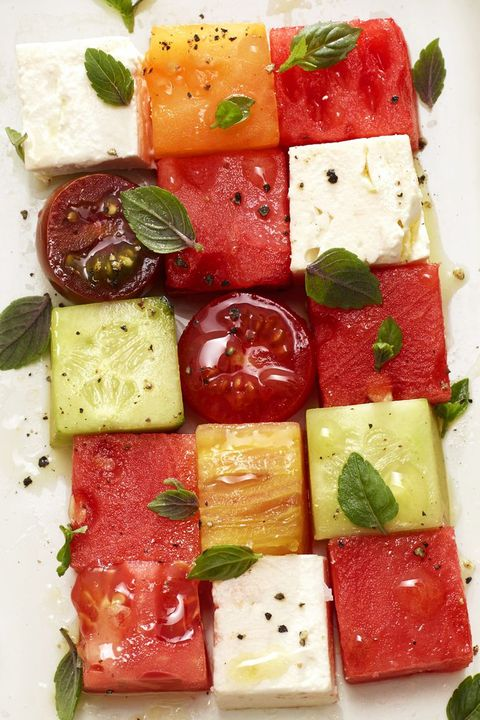 melon mosaic   4th of july appetizers