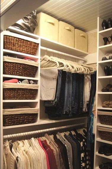 Closet Organizer Ideas - vertical storage