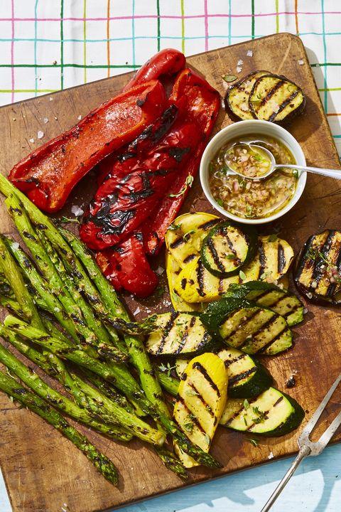 grilled veggies with honey thyme vinaigrette