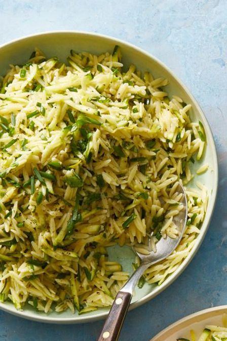 bbq sides   lemon orzo salad